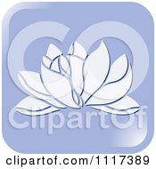 Clipart Of A Purple Lotus Flower Icon Royalty Free Vector Illustration