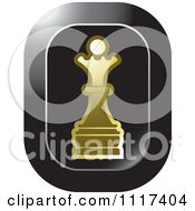 Clipart Of A Gold Queen Chess Piece Icon Royalty Free Vector Illustration by Lal Perera