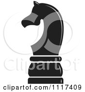 Clipart Of A Black Knight Chess Piece Royalty Free Vector Illustration by Lal Perera