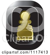 Clipart Of A Gold Pawn Chess Piece Icon Royalty Free Vector Illustration by Lal Perera