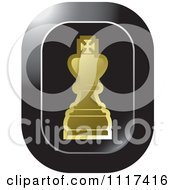 Clipart Of A Gold King Chess Piece Icon Royalty Free Vector Illustration by Lal Perera