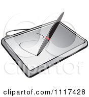 Clipart Of A Stylus Pen Drawing On A Computer Graphics Tablet Royalty Free Vector Illustration by Lal Perera