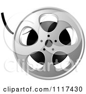Clipart Of A Movie Film Reel Royalty Free Vector Illustration by Lal Perera