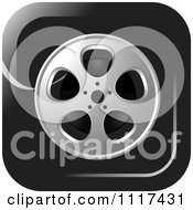 Clipart Of A Movie Film Reel Black Icon Royalty Free Vector Illustration by Lal Perera
