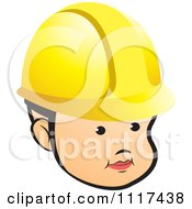 Clipart Of A Baby Contractor Wearing A Hardhat Royalty Free Vector Illustration by Lal Perera