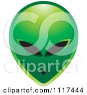 Clipart Of A Green Extraterrestrial Alien Face Royalty Free Vector Illustration by Lal Perera