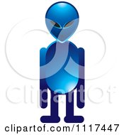 Clipart Of A Blue Extraterrestrial Alien Standing Royalty Free Vector Illustration by Lal Perera