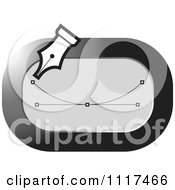 Clipart Of A Grayscale Graphics Editor Pen Tool Royalty Free Vector Illustration