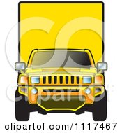 Clipart Of A Yellow Moving Truck Royalty Free Vector Illustration