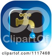 Clipart Of A Dripping Tap Water Faucet Icon 1 Royalty Free Vector Illustration by Lal Perera