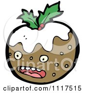Cartoon Of Xmas Plum Pudding Character 18 Royalty Free Vector Clipart