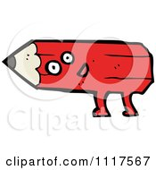 Red Pencil Character 4