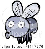 Cartoon Of A House Fly 2 Royalty Free Vector Clipart