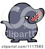 Cartoon Leech Worm 3 Royalty Free Vector Clipart by lineartestpilot