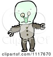 Vector Cartoon Alien Robot 1 Royalty Free Clipart Graphic