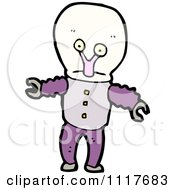 Vector Cartoon Alien Robot 4 Royalty Free Clipart Graphic