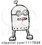 Vector Cartoon Futuristic Robot 29 Royalty Free Clipart Graphic