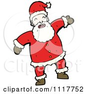 Cartoon Happy Xmas Santa Claus 1 Royalty Free Vector Clipart by lineartestpilot