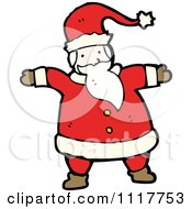Cartoon Happy Xmas Santa Claus 2 Royalty Free Vector Clipart by lineartestpilot