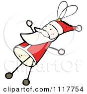 Cartoon Xmas Santa Claus Ornament 1 Royalty Free Vector Clipart by lineartestpilot