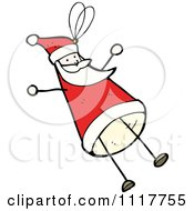 Cartoon Xmas Santa Claus Ornament 2 Royalty Free Vector Clipart by lineartestpilot