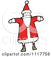 Cartoon Happy Xmas Santa Claus 3 Royalty Free Vector Clipart by lineartestpilot
