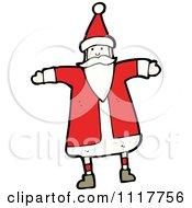 Cartoon Happy Xmas Santa Claus 3 Royalty Free Vector Clipart by lineartestpilot