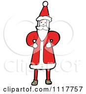 Cartoon Happy Xmas Santa Claus 4 Royalty Free Vector Clipart by lineartestpilot
