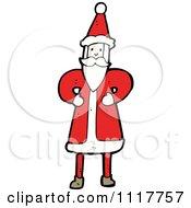Cartoon Happy Xmas Santa Claus 4 Royalty Free Vector Clipart by lineartestpilot