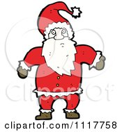 Cartoon Happy Xmas Santa Claus 5 Royalty Free Vector Clipart by lineartestpilot