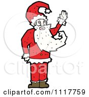 Cartoon Happy Xmas Santa Claus 6 Royalty Free Vector Clipart by lineartestpilot