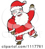 Cartoon Happy Xmas Santa Claus 8 Royalty Free Vector Clipart by lineartestpilot