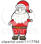 Cartoon Happy Xmas Santa Claus 9 Royalty Free Vector Clipart by lineartestpilot