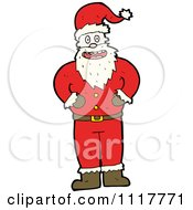 Cartoon Happy Xmas Santa Claus 10 Royalty Free Vector Clipart by lineartestpilot