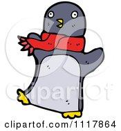 Xmas Penguin Wearing A Scarf 1