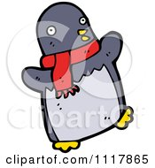 Xmas Penguin Wearing A Scarf 2