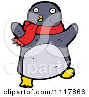 Xmas Penguin Wearing A Scarf 3