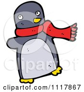 Xmas Penguin Wearing A Scarf 4