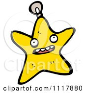 Cartoon Star Xmas Bauble 2 Royalty Free Vector Clipart by lineartestpilot