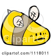 Cartoon Of A Flying Bee 32 Royalty Free Vector Clipart by lineartestpilot