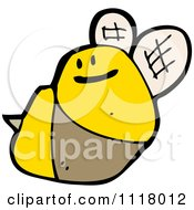 Cartoon Of A Flying Bee 33 Royalty Free Vector Clipart by lineartestpilot