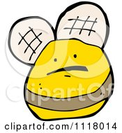 Cartoon Of A Flying Bee 35 Royalty Free Vector Clipart by lineartestpilot