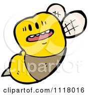Cartoon Of A Flying Bee 36 Royalty Free Vector Clipart by lineartestpilot