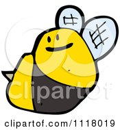 Cartoon Of A Flying Bee 39 Royalty Free Vector Clipart by lineartestpilot