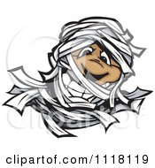 Cartoon Of A Happy Mummy Face Royalty Free Vector Clipart