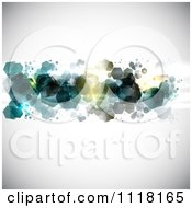 Clipart Of Abstract Hexagons On A Shaded Background Royalty Free Vector Illustration