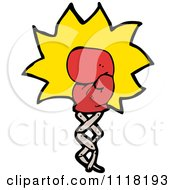 Vector Cartoon Of A Red Boxing Glove Punching 1 Royalty Free Clipart Graphic