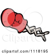 Vector Cartoon Of A Red Boxing Glove Punching 3 Royalty Free Clipart Graphic