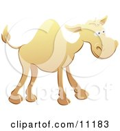 Cute Yellow Camel Clipart Illustration