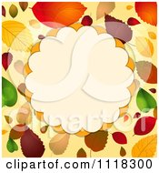 Clipart Of An Autumn Border Of Fall Leaves With A Frame Royalty Free Vector Illustration by elaineitalia
